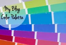 My Blog Color Palette / My blog place is about faith, empowerment, strength, and fun. The colors I use are bright, happy, and strong.