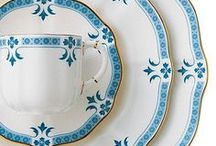 The Colour Blue / From deep royal shades to powdery sea-foam pastels, blue is a wonderful colour to use in design. Take a look at the way the colour blue inspires beautiful fine bone china tableware from Royal Crown Derby.