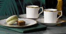 Coffee Drinking Etiquette / What could be better than sipping beautiful freshly brewed coffee out of a fine bone china cup?