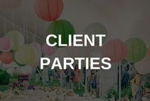 Real Estate Client Party Ideas / Don't know where to start planning your next business mixer or client appreciation party? Try finding your inspiration here...