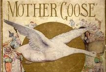 Mother's Goose Nursery Rhymes Old Illustrations