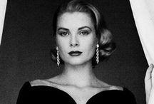 Grace Kelly, Princess of Monaco / In her short career as a Hollywood actress, she captivated millions with her beauty and talent. While at the 1955 Cannes Film Festival in Monaco, she met Prince Rainier of Monaco. On April 19. 1956, they married and she became Princess Grace of Monaco. / by Ken V