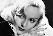 Carole Lombard / This dynamic actress had a bright & rising career when she killed in an airplane crash while on a War Bond tour in 1942. She left behind a long list of great performances: No Man of Her Own, We're Not Dressing, My Man Godfrey (with ex-husband William Powell) for which she earned an Academy  nomination, Nothing Sacred, Made For Each Other, They Knew What They Wanted, Mr. & Mrs. Smith and To Be or Not To Be. She was married to Clark Gable at the time of her death, from which he never recovered.  / by Ken V