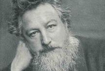 William Morris & His Legacy / An English textile designer, artist and writer associated with the Pre-Raphaelite Brotherhood and English Arts and Crafts Movement. He wrote and published poetry, fiction, and translations of ancient and medieval texts throughout his life. His sublime Arts and Crafts designs are considered a mainstay in the genre. / by Ken V