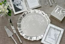 Wedding Essentials! / We've got your wedding essentials covered! Need bridal shower gift ideas?From bridal glasses, to cake server sets and more, we have perfect pieces to accent your wedding shower, ceremony and reception!   Don't forget those perfect traditional wedding gifts for the bride and groom! Personalize classic silver frames and trays.  We have a variety of unique gifts for your wedding party that stylish, practical and affordable! This board showcases all of our favorite items essential for your big day!