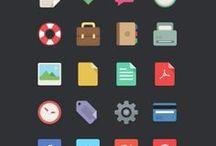 Icons / Illustrative, flat, wire icon set inspiration