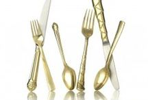 Trend: Gold! In tableware, decor and more! / one of our favorite trends for 2014 is gold. This metallic finish or accent is a great way to warm up your decor. Here are some of our favorite on trend gold decor items!