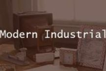 Modern Industrial Decor / We love modern industrial home decor trend for 2014. Check out our some of our favorite decor items, as well as office spaces.