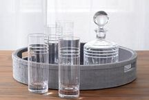 Tray Chic / Trays are a classic serveware item that have now become an updated everyday household essential for more than just serving! Need some tray-spiration? We love all of these great decorative and functional uses for trays!   Reed & Barton carries a wide selection of trays in various materials, shapes, and sizes!