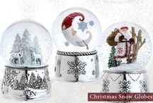 Musical Snow Globes / We love Christmas snow globes. These magical globes are such fun and whimsical keepsakes. The musical feature adds a special touch that makes them a unique gift for all. Bring back wonderful memories of the holidays and winter time every time you look at these spherical wonders.