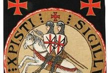 The Templars / 'The Knights Templar were a military religious order (Knights of the Temple of Solomon) founded by Crusaders in Jerusalem around 1118 to defend the Holy Sepulchre and Christian pilgrims; suppressed in 1312. / by Lizzy Bryant