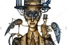 Steampunk by Eugene Ivanov #eugeneivanov / Original watercolor and oil paintings by #eugeneivanov. The official website by artist Eugene Ivanov: http://opatov.wix.com/eugeneivanov   #@eugene_1_ivanov
