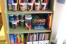 Organizing the Homeschool Classroom / Tips and Tricks to help you organize your homeschool classroom