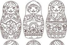 Pattern Embroidery / dessins pour broderie
