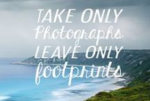 happy camping / eco and sustainable camping... take only photographs, leave only footprints