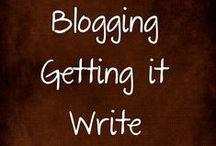 Blogging - Getting it Write