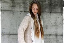 Winter wool knit coats / Cappotti di lana per donna. Womens winter wool knit coats