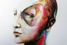 Watercolors - Aquarela / Pinturas em aquarelas da série círculos.
