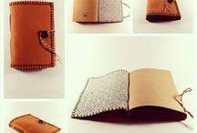 bookbinding: handmade fabric / felt cover books / handmade book