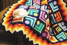 Crochet, knitting - blankets, bedspreads, pilows