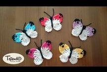 Crochet - butterfly / motýlci