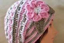 Crochet, knitting - caps, berets, hats / háčkování, pletení - čepice, barety, klobouky