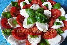 Recepty - studená kuchyně - saláty, pomazánky, chuťovky