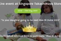 Singapore Takashimaya Event / 20 % off on new collections and up to 70 % off SALE items.Singaporean mommies, good to be back! See you soon at our pop up at Takashimaya Children's Department. Tue 18 - Mon 31st Aug 2015