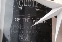 QUOTE Of The Week / We are know to sometimes go past the line with our quotes but hey, rules are meant to be broken so why quit the habit of a life time! We Love to see people walk past the shop and giggle to themselves so we'll keep putting our quotes up! ENJOY
