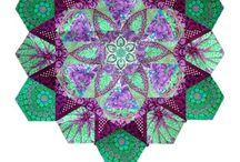 Methode anglaise : Millefiori, grand mother's garden, etc... / Quilt, patchwork