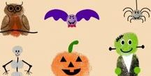 Halloween Craft Ideas and some Treats for you / Trick or treat?  We've collected some great halloween craft ideas for kids, featuring handprints, footprints and fingerprints so you can have fun and create some precious memories. We've also included some treats for you!