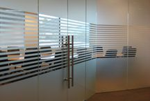 Commercial/office window tint / Ideas for decorative and solar control film for your office.