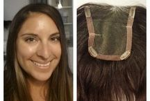 Toppers for Thinning Hair / Wearing a topper (or hairpiece) is often the best and the least evasive way to mask thinning hair. Let us design a custom, human hair topper just for you.