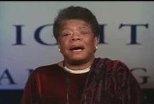Maya Angelou / A tribute to a beautiful woman. Inside and out.