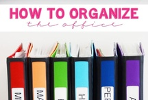 Organizing / How to get more organized and stay that way. Tips and tricks for organizing every aspect of your life. / by Krafty Owl
