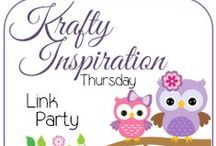 Krafty Inspiration Party / Featured links from the Krafty Inspiration Thursday Link Party at Krafty Cards etc.  / by Krafty Owl