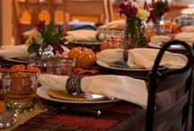 Thanksgiving/Fall / Be grateful. Thanksgiving home decorating ideas, recipes for dinner and dessert. Plus, how to get organized for the holiday. / by Krafty Owl