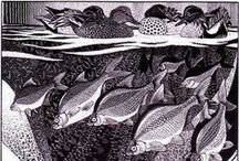 See-Paynton - The Master / Some of my top favourites by the Master Wood Engraver and Artist Colin See-Paynton.  One of my all-time art/design heroes, this work is perfection - a source of constant delight.  Line and pattern - who needs colour!