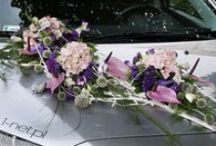 KORSO / Florystyczne dekoracje slubne samochodow, dorozek i innych pojazdow...