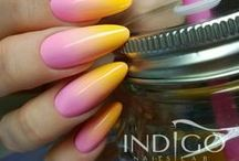 Ombre Nails / Ombre Nail Art ;)) Welcome in Indigo world <3 <3 <3