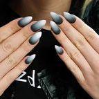 Black & White / Black and White Indigo Nails design <3 <3 <3