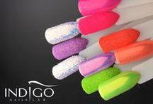 Indigo Nails Mermaid Effect / Nails Art with magic powder Mermaid Effect :)