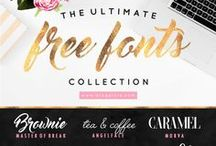 Design / Resources / Lovely Fonts, Brushes and Patterns for your website or print