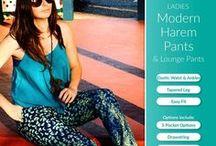 Ladies Harem Pants PDF Pattern / Ladies Harem Pants sewing pattern by Pattern Emporium.