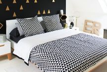 HOME / Dreamy Bedrooms / beautiful bedrooms,  modern, chic, simple, black and white