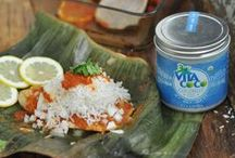 Hey Good Cookin'! / Our Coconut Oil makes the perfect addition to your favorite recipes. Dinner's never looked so good!