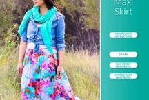 Ladies Tiered Maxi Skirt PDF Pattern / Ladies Tiered Maxi Skirt sewing pattern by Pattern Emporium