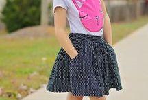 Girls Gathered Skirt PDF Pattern