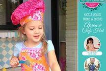 Make & Create Apron & Chef's Hat PDF Pattern / Digital PDF Pattern to make a Boys, Girls, Ladies or Males Apron. Plus a Chef's Hat.