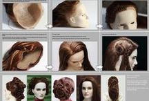 Tutorials: Wigs | Rerooting / Tutorials about fiber, wig care, wig making, and rerooting for dolls. / by AshGUTZ